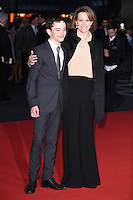 "Lewis MacDougall and Sigourney Weaver<br /> at the London Film Festival premiere for ""A Monster Calls"" at the Odeon Leicester Square, London.<br /> <br /> <br /> ©Ash Knotek  D3162  06/10/2016"