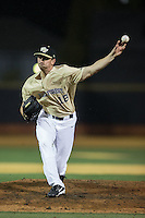 at David F. Couch Ballpark on February 28, 2017 in Winston-Salem, North Carolina.  The Demon Deacons defeated the Wildcats 13-5.  (Brian Westerholt/Four Seam Images)