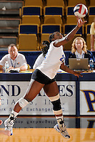 20 November 2008:  Middle Tennessee outside hitter Ashley Mead (23) attempts a finesse shot during the Middle Tennessee 3-0 victory over Arkansas State in the first round of the Sun Belt Conference Championship tournament at FIU Stadium in Miami, Florida.