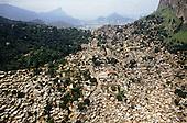 Rio de Janeiro, Brazil. Rocinha favela shanty town.