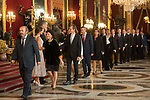 Maria Isabel Celaa, Queen Letizia of Spain, King Felipe VI of Spain and Pedro Duque attends to Sapnish National Day palace reception at the Royal Palace in Madrid, Spain. October 12, 2018. (ALTERPHOTOS/A. Perez Meca)