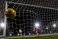 12th February 2020; McDairmid Park, Perth, Perth and Kinross, Scotland; Scottish Premiership Football, St Johnstone versus Motherwell; Callum Hendry of St Johnstone scores the opening goal to put his side 1-0 ahead in the 27th minute