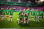 01.05.2019, RheinEnergie Stadion , Köln, GER, DFB Pokalfinale der Frauen, VfL Wolfsburg vs SC Freiburg, DFB REGULATIONS PROHIBIT ANY USE OF PHOTOGRAPHS AS IMAGE SEQUENCES AND/OR QUASI-VIDEO<br /> <br /> im Bild | picture shows:<br /> Zsanett Jakabfi (VfL Wolfsburg #3) jubelt mit dem Team un dem Pokal in der Hand, <br /> <br /> Foto © nordphoto / Rauch