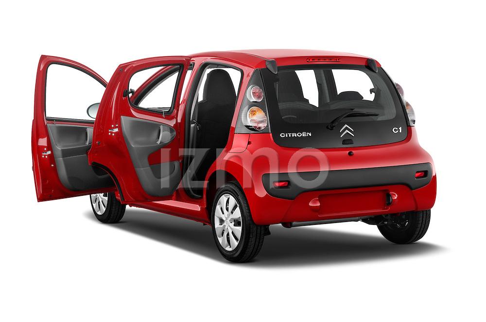 Rear three quarter door view of a 2009 - 2012 Citroen C1 Airplay 5-Door Micro Car Hatchback