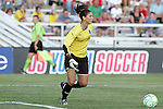 26 July 2009: Hope Solo (1) of Saint Louis Athletica.  Saint Louis Athletica tied the visiting FC Gold Pride 1-1 in a regular season Women's Professional Soccer game at Anheuser-Busch Soccer Park, in Fenton, MO.