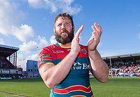 Picture by Allan McKenzie/SWpix.com - 09/09/2017 - Rugby League - Betfred Super League - Hull KR v Widnes Vikings - KC Lightstream Stadium, Hull, England - Hull KR's Nick Scruton thanks the fans after his side regained their Super League place.