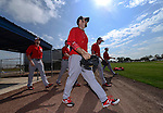 VIERA, FL-  FEBRUARY 24:  Players of the Washington Nationals take the field during the Washington Nationals Spring Training at Space Coast Stadium in Viera, FL (Photo by Donald Miralle) *** Local Caption ***