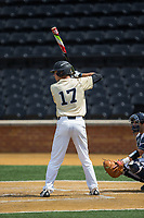 Bruce Steel (17) of the Wake Forest Demon Deacons at bat against the Pitt Panthers at David F. Couch Ballpark on May 20, 2017 in Winston-Salem, North Carolina. The Demon Deacons defeated the Panthers 14-4.  (Brian Westerholt/Four Seam Images)