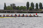 Rowing, Seattle, Sammamish Rowing Association , Junior women's eight, workout, Lake Union, Washington State, spring, 2012,