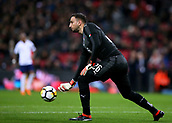 27th March 2018, Wembley Stadium, London, England; International Football Friendly, England versus Italy; Goalkeeper Gianluigi Donnarumma of Italy throws the ball back into play