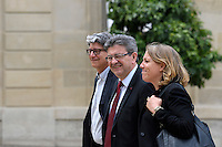 Paris (75),Le President de la Republique, Franeois HOLLANDE, recoit samedi 25 juin 2016 les representants des partis politiques francais au Palais de l Elysee. Parti de Gauche, Jean-Luc MELENCHON, Danielle SIMONNET, eric COQUEREL