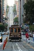 A cable car in San Francisco,  on Van Ness Ave in California. Ernie Mastroianni photo