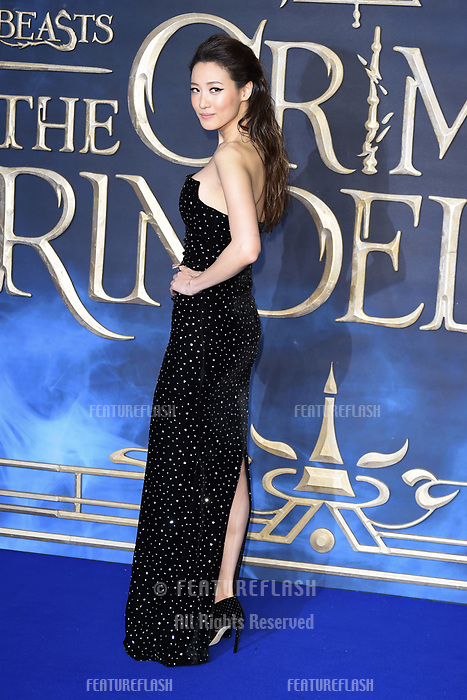 """LONDON, UK. November 13, 2018: Claudia Kim at the """"Fantastic Beasts: The Crimes of Grindelwald"""" premiere, Leicester Square, London.<br /> Picture: Steve Vas/Featureflash"""