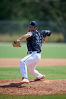 Brendan Herrick during the WWBA World Championship at the Roger Dean Complex on October 18, 2018 in Jupiter, Florida.  Brendan Herrick is a right handed pitcher from Riverview, Florida who attends Riverview High School.  (Mike Janes/Four Seam Images)