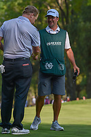 Charley Hoffman (USA) shakes hands with his caddie Brett Waldman following round 4 of the World Golf Championships, Mexico, Club De Golf Chapultepec, Mexico City, Mexico. 3/4/2018.<br /> Picture: Golffile | Ken Murray<br /> <br /> <br /> All photo usage must carry mandatory copyright credit (&copy; Golffile | Ken Murray)