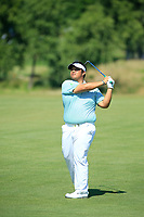 Kiradech Aphibarnrat (THA) in action during the final round of the Northern Trust played at Liberty National Golf Club, Jersey City, USA. 11/08/2019<br /> Picture: Golffile | Michael Cohen<br /> <br /> All photo usage must carry mandatory copyright credit (© Golffile | Michael Cohen)