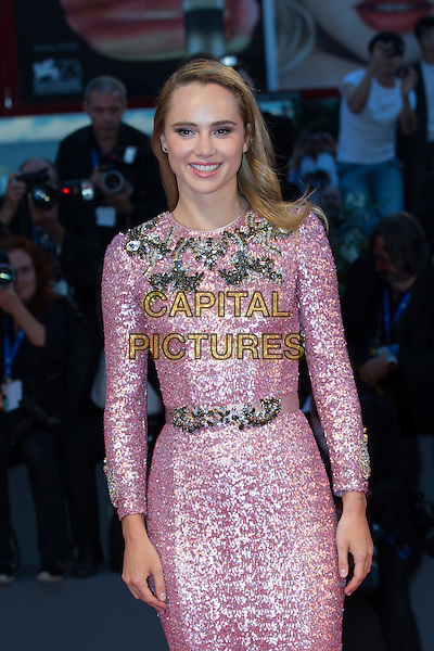 Suki Waterhouse at the premiere of The Bad Batch at the 2016 Venice Film Festival.<br /> September 6, 2016  Venice, Italy<br /> CAP/KA<br /> &copy;Kristina Afanasyeva/Capital Pictures