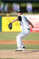 May 25, 2008: Jamie Richmond (38) of the Kane County Cougars makes a pitch against the Quad Cities River Bandits at Elfstrom Stadium in Geneva, IL. Photo by: Chris Proctor/Four Seam Images