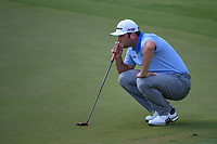 Jon Rahm (ESP) lines up his putt on 9 during round 2 of the WGC FedEx St. Jude Invitational, TPC Southwind, Memphis, Tennessee, USA. 7/26/2019.<br /> Picture Ken Murray / Golffile.ie<br /> <br /> All photo usage must carry mandatory copyright credit (© Golffile | Ken Murray)