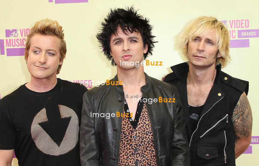 """""""Green Day"""" at the MTV Video Music Awards at the Staples Center in Los Angeles, September 6th, 2012..."""