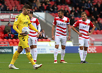 Fleetwood Town's Ched Evans steps up to take the first half penalty<br /> <br /> Photographer David Shipman/CameraSport<br /> <br /> The EFL Sky Bet League One - Doncaster Rovers v Fleetwood Town - Saturday 6th October 2018 - Keepmoat Stadium - Doncaster<br /> <br /> World Copyright © 2018 CameraSport. All rights reserved. 43 Linden Ave. Countesthorpe. Leicester. England. LE8 5PG - Tel: +44 (0) 116 277 4147 - admin@camerasport.com - www.camerasport.com