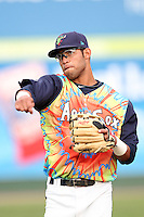 Everett Aquasox infielder Jorge Agudelo #33 before a game against the Tri-City Dust Devils at Everett Memorial Stadium on August 13, 2011 in Everett,Washington. Everett defeated Tri-City 6-4.(Larry Goren/Four Seam Images)