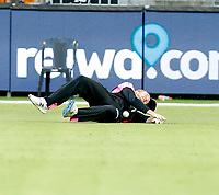 26th December 2019; Optus Stadium, Perth, Western Australia, Australia;  Big Bash League Cricket, Perth Scorchers versus Sydney Sixers; Lloyd Pope of the Sydney Sixers saves the ball in the outfield - Editorial Use