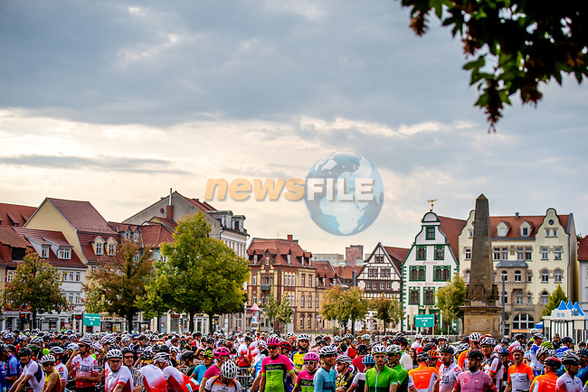 Sportive before Stage 4 of the Deutschland Tour 2019, running 159.5km from Eisenach to Erfurt, Germany. 1st September 2019.<br /> Picture: ASO/Henning Angerer   Cyclefile<br /> All photos usage must carry mandatory copyright credit (© Cyclefile   ASO/Henning Angerer)