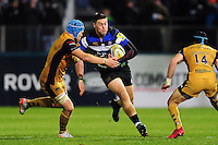 Matt Banahan of Bath Rugby takes on the Bristol Rugby defence. Aviva Premiership match, between Bath Rugby and Bristol Rugby on November 18, 2016 at the Recreation Ground in Bath, England. Photo by: Patrick Khachfe / Onside Images