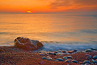 Sunrise on St. Lawrence Bay. Cape Breton Island. Cabot Trail.<br />
