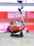 17 December 2010: Ander Mirambell sliding for Spain, finishes in 19th place at the Viessmann FIBT Skeleton World Cup Championships in Lake Placid, New York, USA. Mandatory Credit: Ed Wolfstein Photo