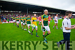 Kerry players in the pre match parade before the Munster Final at Fitzgerald Stadium, Killarney on Saturday evening.