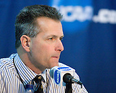 Don Lucia (Minnesota - Head Coach) - The Boston College Eagles defeated the University of Minnesota Golden Gophers 5-2 on Saturday, March 29, 2008, in the NCAA Northeast Regional Semi-Final at the DCU Center in Worcester, Massachusetts.