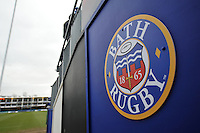 A general view of the Bath Rugby emblem in the tunnel leading to the pitch. European Rugby Champions Cup match, between Bath Rugby and Glasgow Warriors on January 25, 2015 at the Recreation Ground in Bath, England. Photo by: Patrick Khachfe / Onside Images