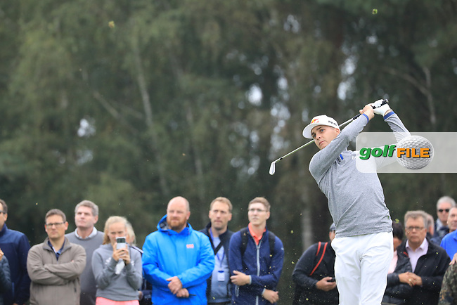 Matthias Schwab (AUT) during the third round of the Porsche European Open , Green Eagle Golf Club, Hamburg, Germany. 07/09/2019<br /> Picture: Golffile | Phil Inglis<br /> <br /> <br /> All photo usage must carry mandatory copyright credit (© Golffile | Phil Inglis)