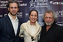 London, UK. 15.04.2014. Eifman Ballet after-party on press night for the opening of Rodin, Sky Bar, London Coliseum. Pictured: Oleg Gabyshev, Lorraine Chase, Boris Eifman. Photograph © Jane Hobson.