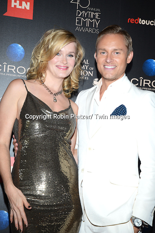 Nicholle Tom and Robbie Lauglin attends The 40th Annual Daytime Emmy Awards on<br />  June 16, 2013 at the Beverly Hilton Hotel in Beverly Hills, California.