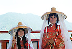 Two Pilgrims at Kumano Nachi Taisha Temple