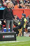 05.10.2019, BayArena, Leverkusen, GER, 1. FBL, Bayer 04 Leverkusen vs. RB Leipzig,<br />  <br /> DFL regulations prohibit any use of photographs as image sequences and/or quasi-video<br /> <br /> im Bild / picture shows: <br /> Julian Nagelsmann Cheftrainer/Headcoach (RB Leipzig), <br /> <br /> Foto © nordphoto / Meuter