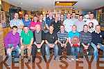 Golf Society Charity Night: Listowel Bar  Mike The Pie's Golf Society pictured at their annual presentation of awards and charity night held in aid of Listowel hospice at Mike the Pie's on Saturday night last. Front: Brendan Griffin, Tom Sullivan, Pat O'Connor, Jim Dore, incoming captain, Tom O'Connor, Golfer of the Year, Tommy Canavan, Mike Canavn, outgoing captain, Liam Kirby, winner of  Saturday's outing to Tralee Gof Club ..Back: Mike Collins, P.J. Collins, Bendigo Kelliher, Kieth Browne, Mike Dlton, Tom Toomey, John O.Connor, Theo Lynch, Adrian Grimes, David Toomey & John Toomey.