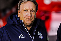 Cardiff City's manager Neil Warnock during the Sky Bet Championship match between Sheff United and Cardiff City at Bramall Lane, Sheffield, England on 2 April 2018. Photo by Stephen Buckley / PRiME Media Images.
