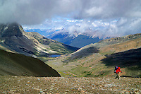 Skyline Trail, Jasper National Park, Alberta, Canada, July 2006. The ridgewalk between Curator and Tekarra campsites is the most strenuous of the Skyline Trail. Trekking the Skyline Trail takes you over mountain ridges and through green alpine meadows offering spectaculair mountain landscapes and lots of wildlife. Photo by Frits Meyst/Adventure4ever.com.