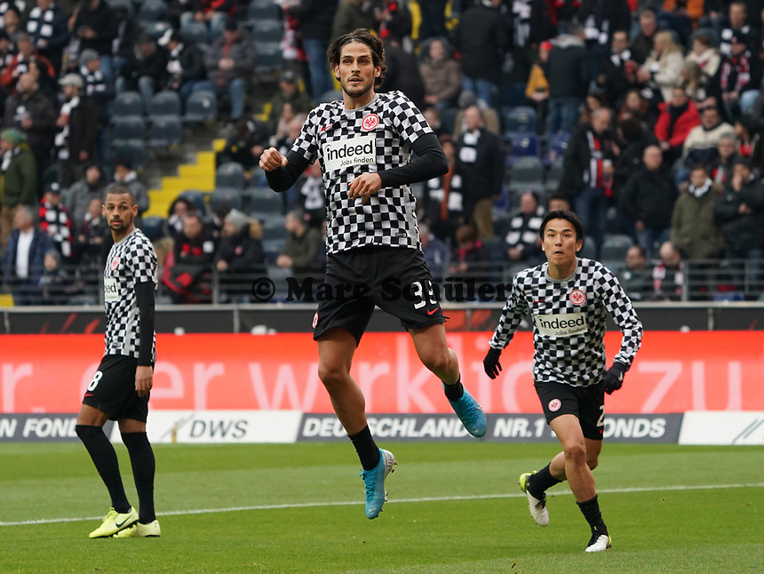 Goncalo Paciencia (Eintracht Frankfurt) - 23.11.2019: Eintracht Frankfurt vs. VfL Wolfsburg, Commerzbank Arena, 12. Spieltag<br /> DISCLAIMER: DFL regulations prohibit any use of photographs as image sequences and/or quasi-video.