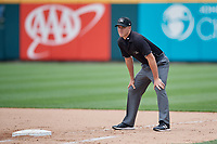 Umpire Brennan Miller during an International League game between the Indianapolis Indians and Buffalo Bisons on June 20, 2019 at Sahlen Field in Buffalo, New York.  Buffalo defeated Indianapolis 11-8  (Mike Janes/Four Seam Images)
