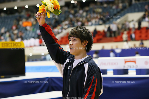Ryohei Kato, <br /> MAY 17, 2015 - Artistic Gymnastics : <br /> The 54th NHK Cup <br /> Individual All-Around <br /> Award Ceremony <br /> at Yoyogi 1st Gymnasium, Tokyo, Japan. <br /> (Photo by YUTAKA/AFLO SPORT)