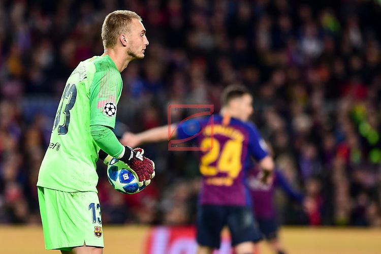 UEFA Champions League 2018/2019 - Matchday 6.<br /> FC Barcelona vs Tottenham Hotspur FC: 1-1.<br /> Jasper Cillessen.