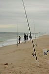 The fishermen fish of the New Jersey coast at  Silver Beach .