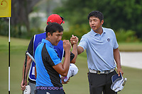 KK LIMBHASUT (THA) shakes hands following Rd 3 of the Asia-Pacific Amateur Championship, Sentosa Golf Club, Singapore. 10/6/2018.<br /> Picture: Golffile | Ken Murray<br /> <br /> <br /> All photo usage must carry mandatory copyright credit (© Golffile | Ken Murray)