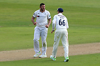 Tim Bresnan of Yorkshire celebrates taking the wicket of Ryan ten Doeschate during Essex CCC vs Yorkshire CCC, Specsavers County Championship Division 1 Cricket at The Cloudfm County Ground on 4th May 2018
