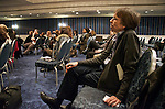 Members of the Jazz Journalists Association examine the tough questions on the future of jazz media during a special Town Hall session at the JJA's third annual New York City winter mini-conference at the Sheraton Hotel and Towers.